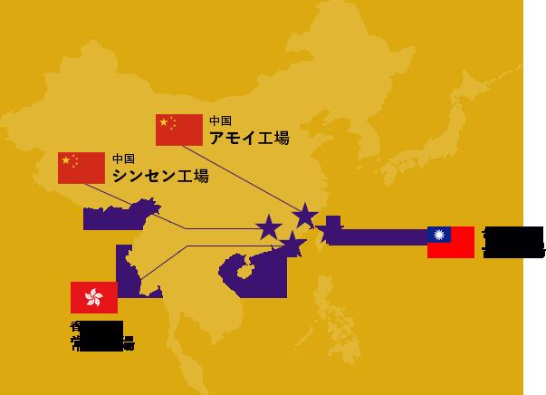 イルミネーション提携工場の地図