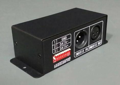 1球1アドレス 光の流れるテープライト用DMX512デコーダ