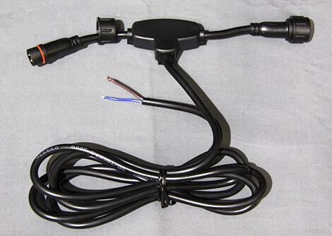 中継電源ケーブル 黒コード 200cm
