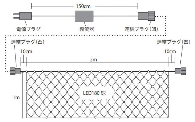 カラーチェンジ 黒コードタイプ 連結図