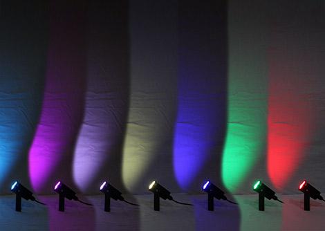 DC12V、RGB3ch(3in1)、3W×3灯