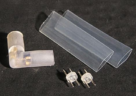 LEDロープライト(チューブライト) L型コネクタ、固定タイプ