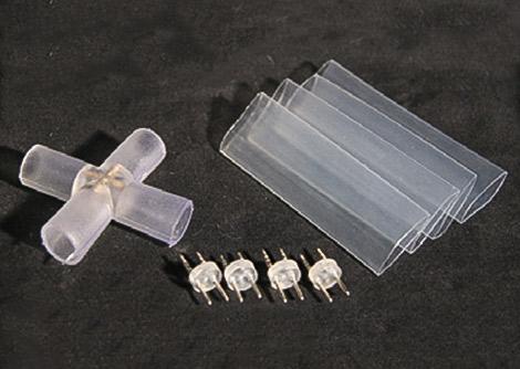 LEDロープライト(チューブライト) X型コネクタ、固定タイプ